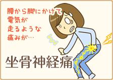 大阪市福島区 カイロプラクティック整体ヘンミの坐骨神経痛