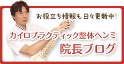 大阪市福島区カイロプラクティック整体ヘンミ院長ブログ