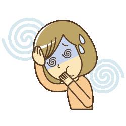 頭痛とめまいで苦しんでいるイラスト|カイロプラクティック整体ヘンミ