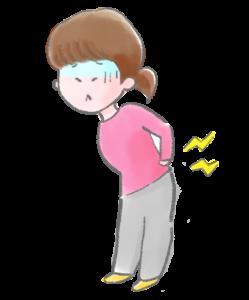 腰痛で苦しんでいる人のイラスト